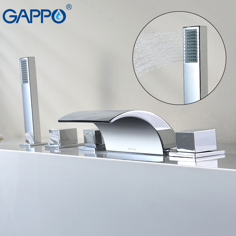 GAPPO Bathtub Faucet Waterfall Tub Faucet Chrome Bathroom Shower Faucet Tap Bath Tub Mixer Robinet Baignoire