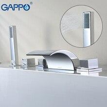 GAPPO ванна кран водопад смеситель chrome Ванная комната Душ кран ванна смеситель Робине бенуар