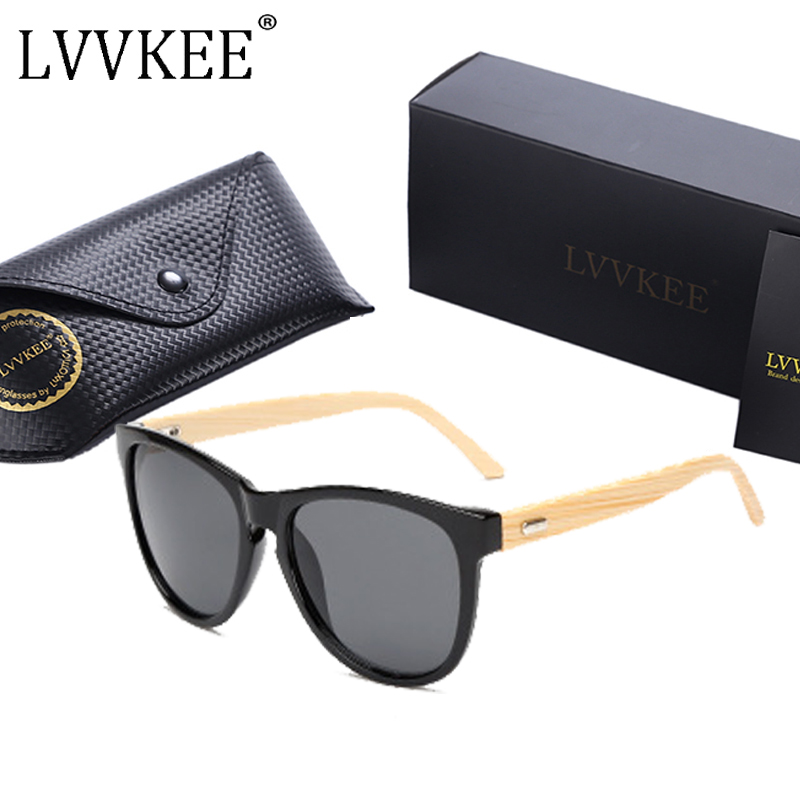 LVVKEE high-quality handmade bamboo sunglasses Women/Men wood sun glasses wooden eyewear Outdoor sports mormaii Oculos masculino