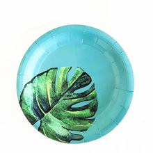 8pcs Disposable Tableware Beautiful Printing Storage Pretty Paper Plate for Party Gathering Festival
