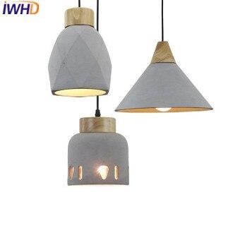 IWHD Moderne LED Opknoping Lichten Mode Cement Hanglamp Mode Keuken Hanglamp Thuis Verlichtingsarmaturen Armatuur Suependu