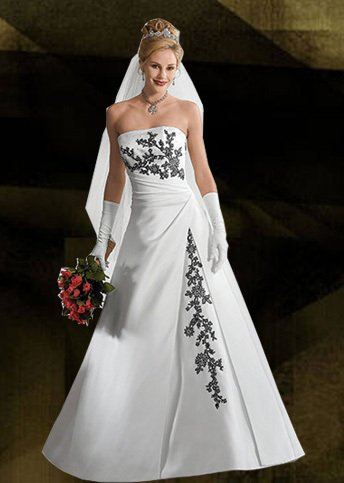 Custom Made Elegant Wedding Gowns sleeveless Embroidery