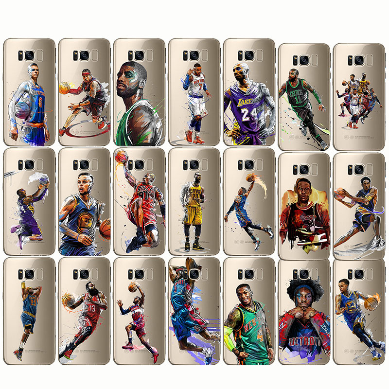 Basketball James Kobe Bryant Westbrook Harden Curry Soft Silicon Case Cover for  samsung Note 5 8 4  S6 S7 s8 S9 edge plus