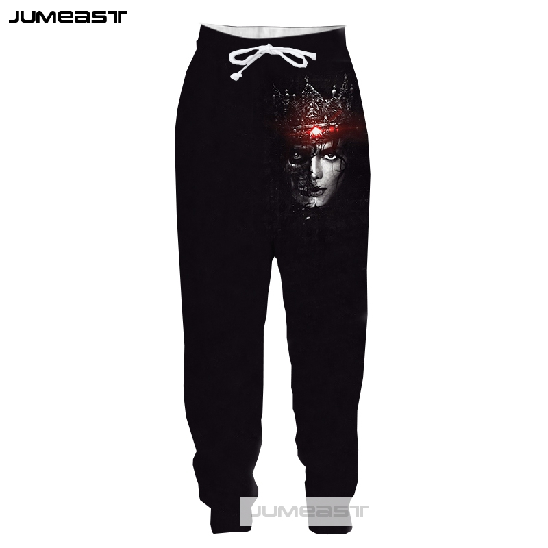Jumeast New 3D Printed Dancing King Michael Jackson Men/Women Pants American Singer Sport Loose Size Novelty Hip Hop Long Pants