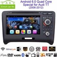 Android 8,1 Octa Core 2 Din gps Navi 7 dvd плеер автомобиля для Audi TT 2006 2012 с bluetooth/RDS/радио/3g/WI FI/Canbus/USB/SD
