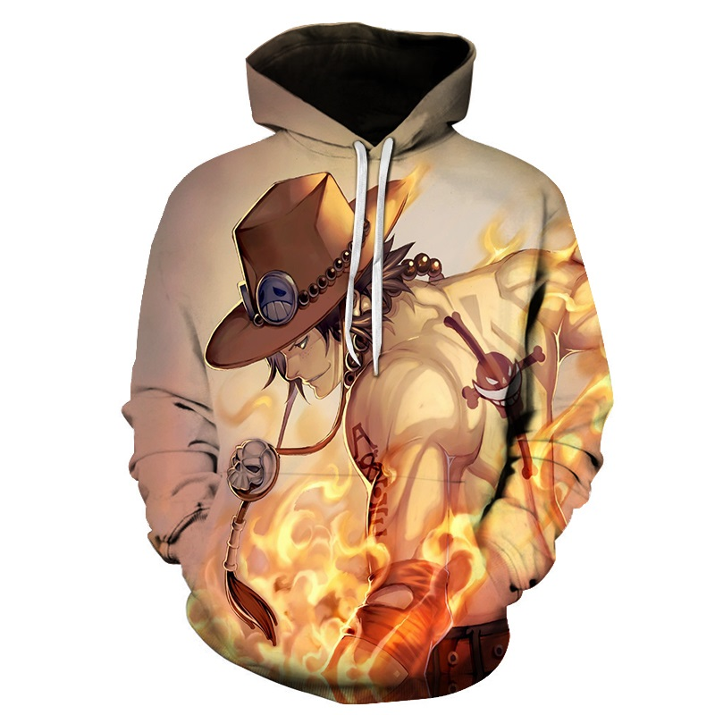 Hoodies & Sweatshirts Anime One Piece Hoodie 3d Print Pullover Sweatshirt Monkey D Luffy Ace Sabo Kaido Battle Tracksuit Outfit Hoodies Outerwear