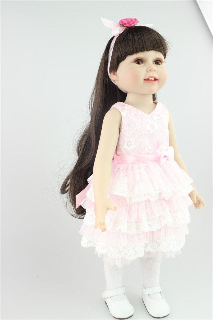 Vinyl American Princess 45cm real Girl Dolls 18 Inch Cute