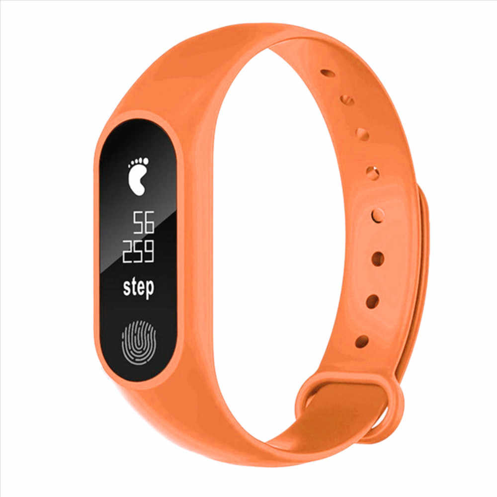 2019 100% brand new and high quality Gift Sport Pedometer Smart Bracelet Heart Rate Bluetooth 4.0 Smart Watch for Android IOS8.0