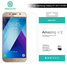 for Samsung Galaxy A7 2017 A720 A720F Nillkin 9H Amazing H / H+ Pro 5.7 inch Tempered Glass Screen Protector for Samsung A7 2017