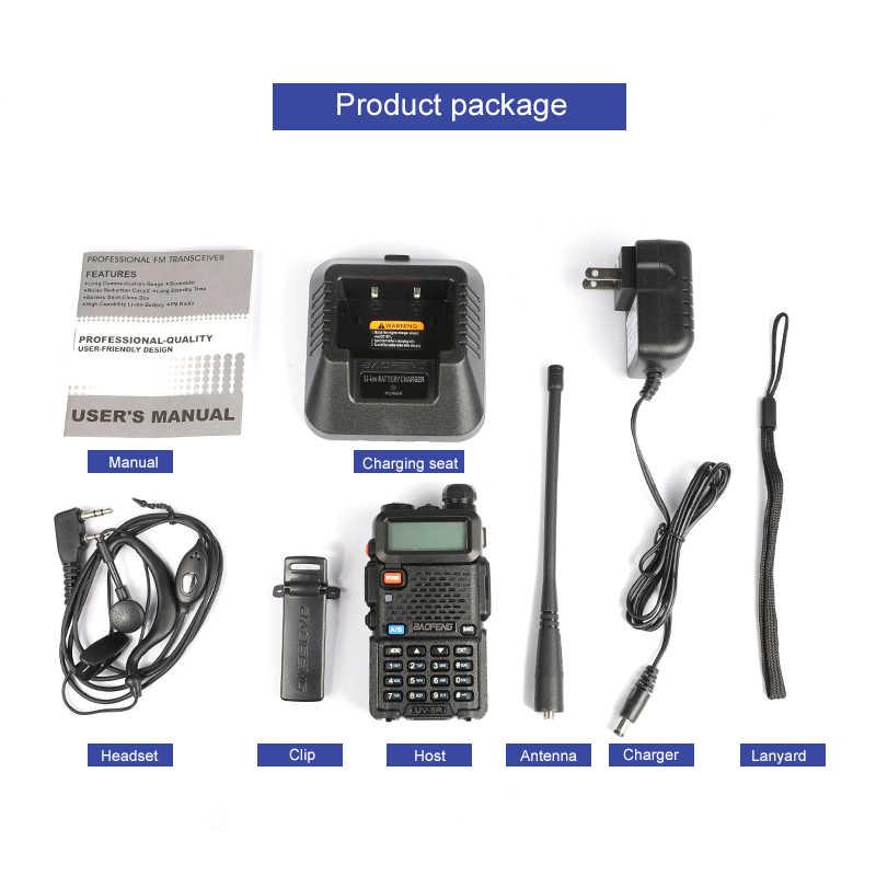 BAOFENG UV-5R هام راديو ثنائي النطاق راديو 136-174Mhz و 400-520Mhz UV5R راديو محمول باليد الاتصالات اتجاهين راديو لاسلكي تخاطب