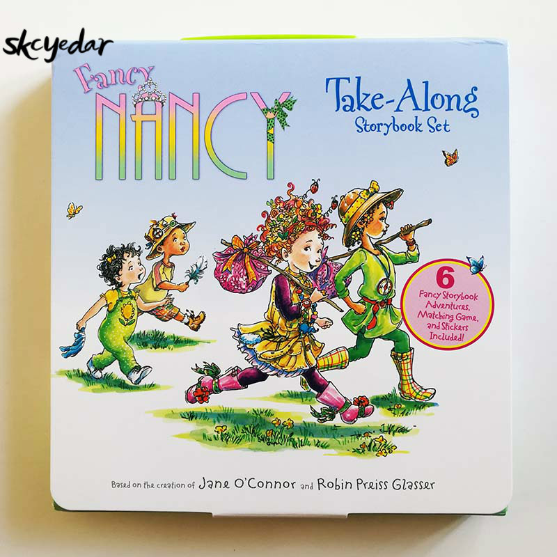 6Pcs Fancy Nancy Take-Along Storybook Set English Story Books For Kids/Children English Kids Books 8*8In With Stickers