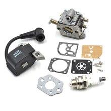 Carburetor Rebuild Kit Igntion Coil Fits FITS STIHL 017 MS170 018 MS180 ZAMA CARB