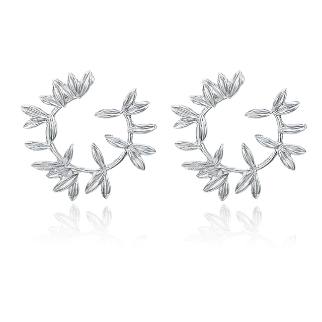 Tocona Beautiful Flowers Gold Silver Color High Quality Stud Earrings Jewelry Gift For Women Ladies Drop Shipping 5851