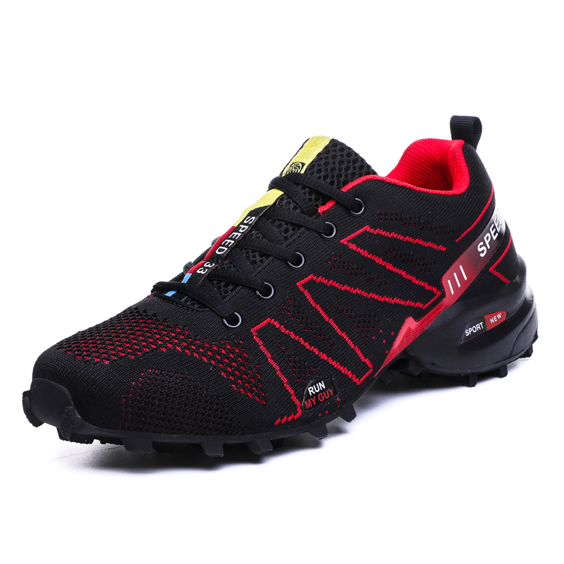 Men Athletic Hiking Trail Shoes Sport Men Sneakers Jogging Shoes Tennis Speedcross Athletic Shoes Summer Outdoor Shoes(China)