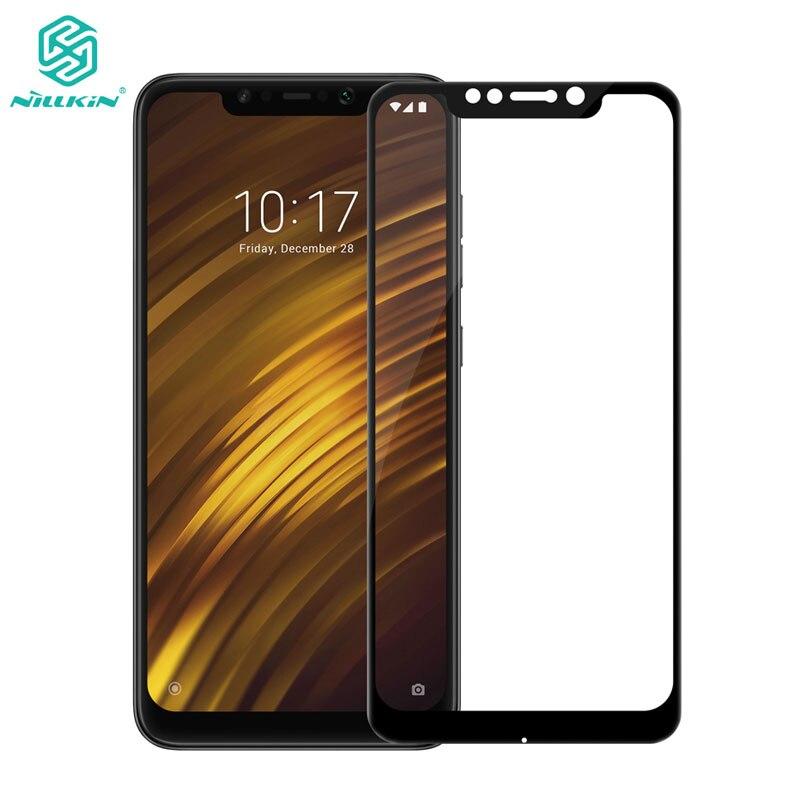 Xiaomi Pocophone F1 de templado de vidrio de Pocophone F1 de Nillkin CP + 2.5D completa de la cubierta de Protector de pantalla