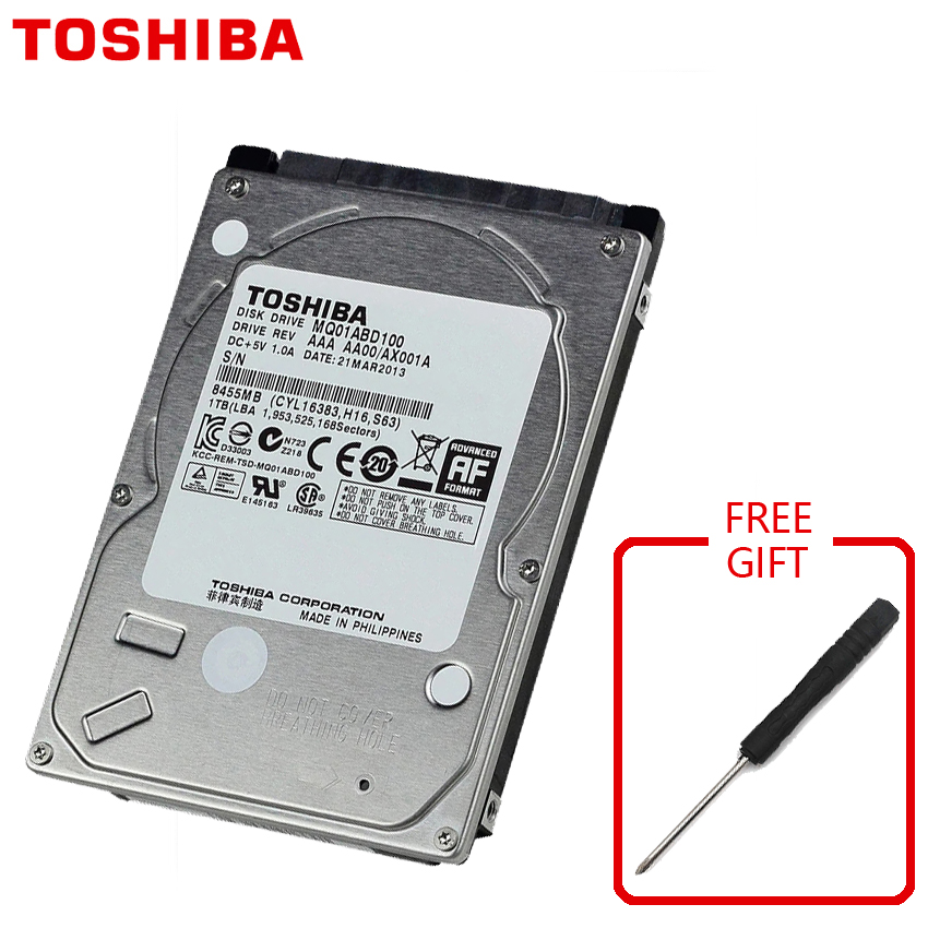 TOSHIBA Laptop 1TB Hard Drive Disk 1000GB 1000G HDD HD 2.5 5400RPM 8M SATA2 Original New for Notebook