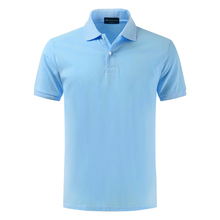 High quality 100% cotton, summer mens polo shirt, short sleeved lapel, pure color, large size
