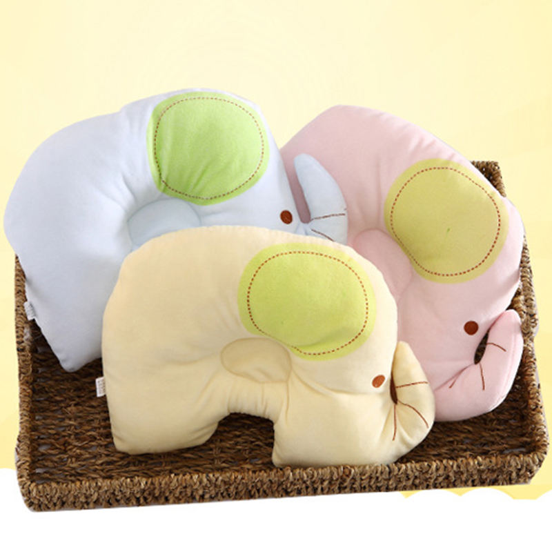 26*20CM Cartoon Elephant Baby Shaping Pillow Sleep Head Pillow Cotton Anti Roll  Infant Head Protection P15