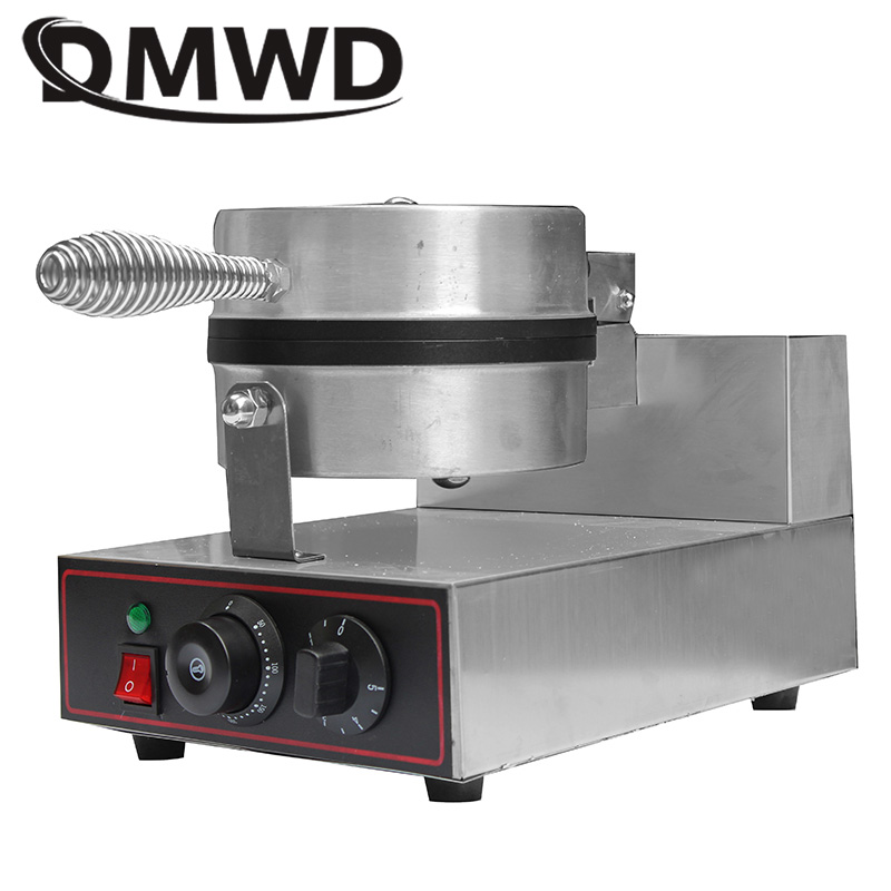 DMWD Commercial Stainless Steel Electric Egg cake muffin oven Waffle Maker waffle Muffin Baking machine non-stick 1000W 220V