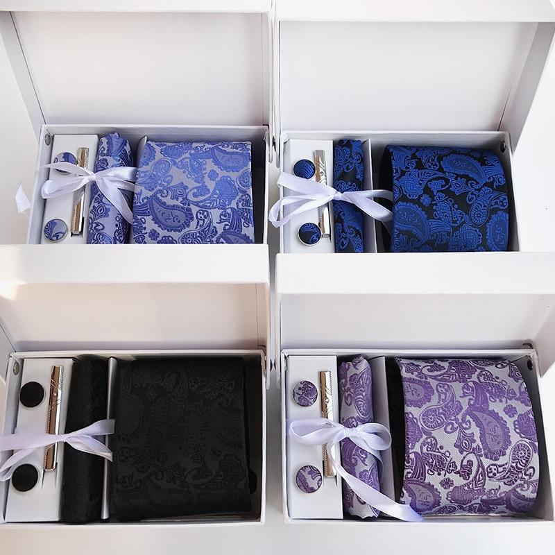 cravates de mode pour hommes cravate en soie ensemble cravates - Accessoires pour vêtements - Photo 2