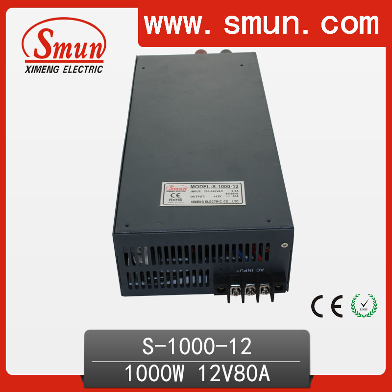 1000W 12V 80A single output switching power supply with CE ROHS from China Supplier industrial and led Used ce rohs ms 50 24v ac dc mini size single output switching power supply from chines supplier