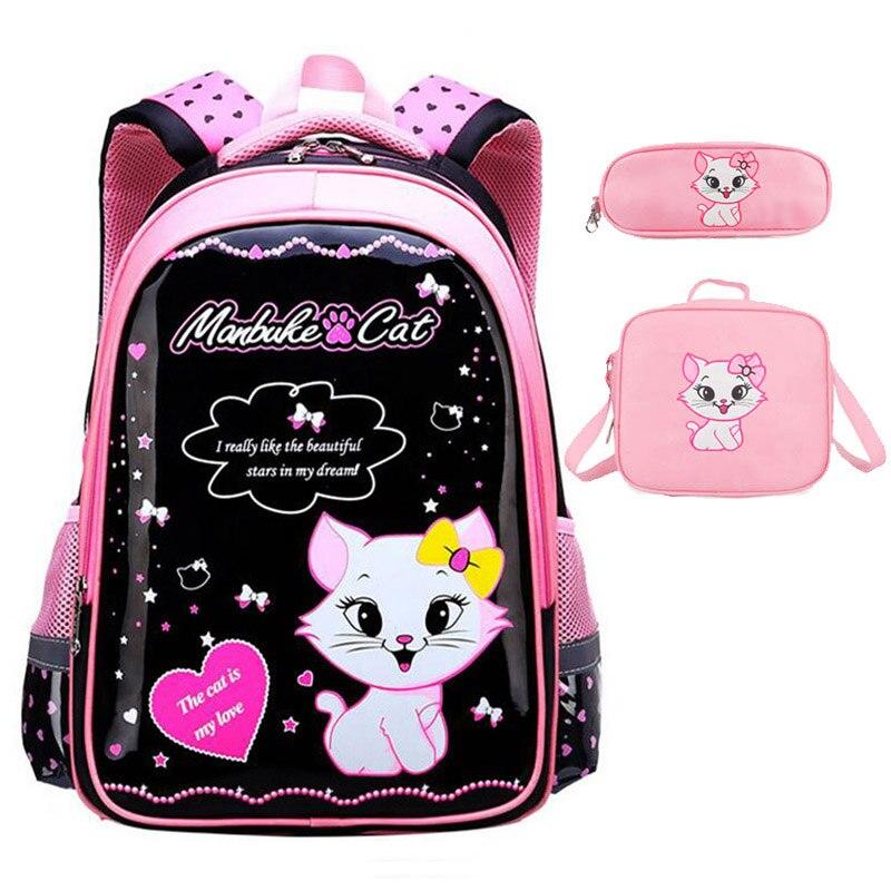 Cut Cat School Bag For Girl Cartoon Pattern Kid Backpack Children School Backpack Girl Bag Mochila Infantil Rucksack