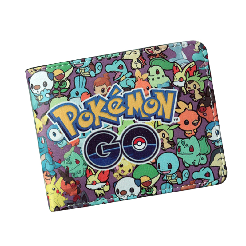 5 Pcs/Lot Cartoon Anime Wallet Wholesale Nintendo Game Pocket Monster Charizard Pikachu Wallet Poke Wallet Pokemon go Billetera pokemon go print purse anime cartoon pikachu wallet pocket monster johnny turtle ibrahimovic zero pen pencil bag leather wallets