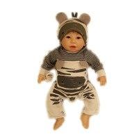 50cm/20 Reborn Cartoon Toddler Doll Handmade Lifelike Baby Solid Silicone Vinyl Boy Doll Toy Collection