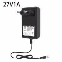 VORED 27V 1A 충전기 전원 어댑터 변환기 미국/EU/UK 플러그 전원 공급 장치 DC 5.5*2.5mm 라우터/LED 조명
