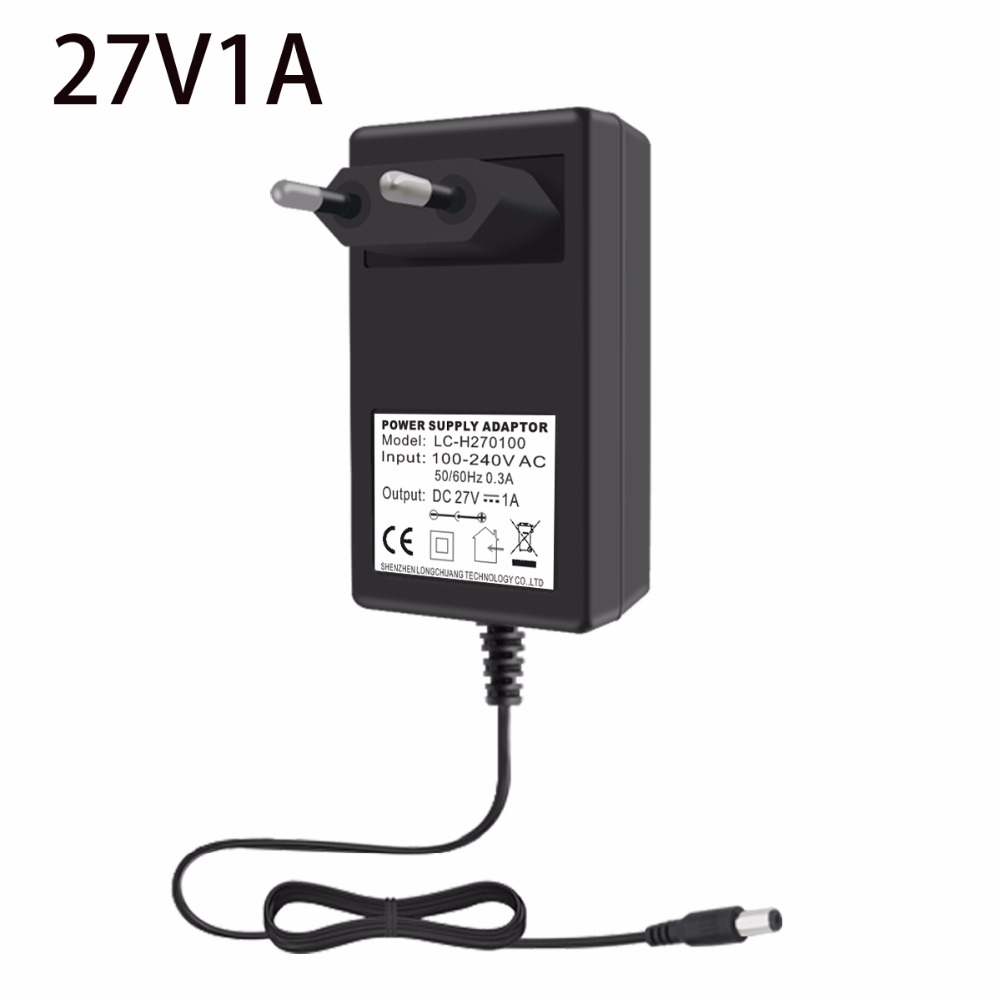 VORED <font><b>27V</b></font> 1A Charger Power <font><b>Adapter</b></font> Converter US/EU/UK Plug Power Supply DC 5.5*2.5mm for Routers/LED Light image
