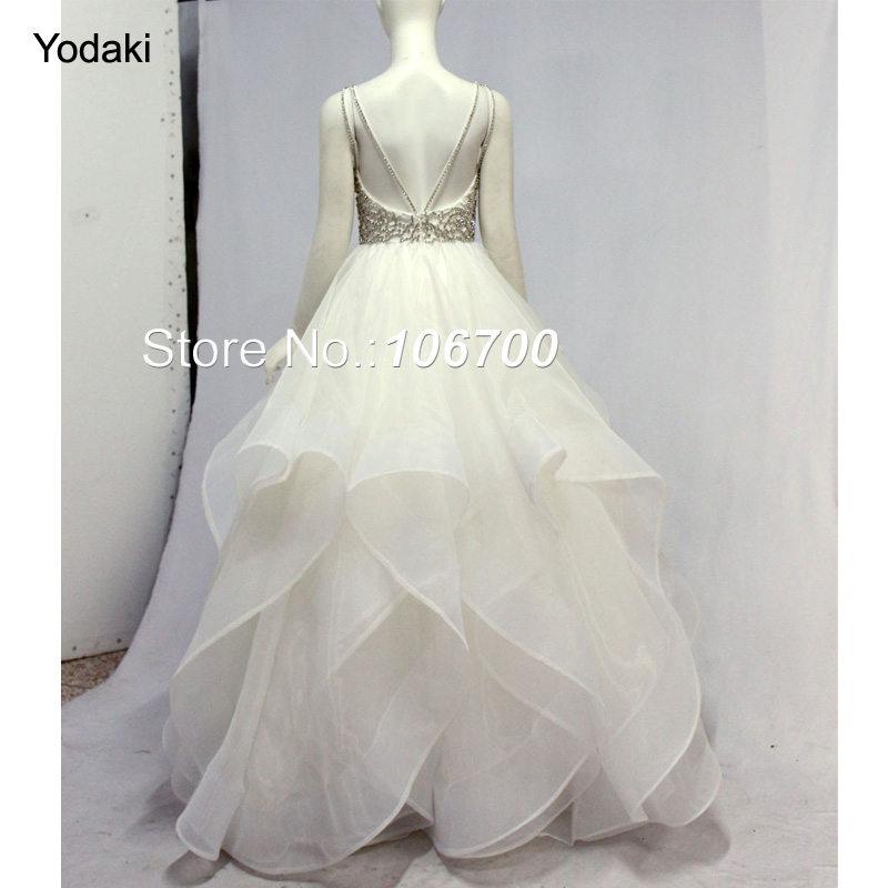 2018 Ballgown Lace Beads Long Prom Dresses O Neck Zip Open Back ...