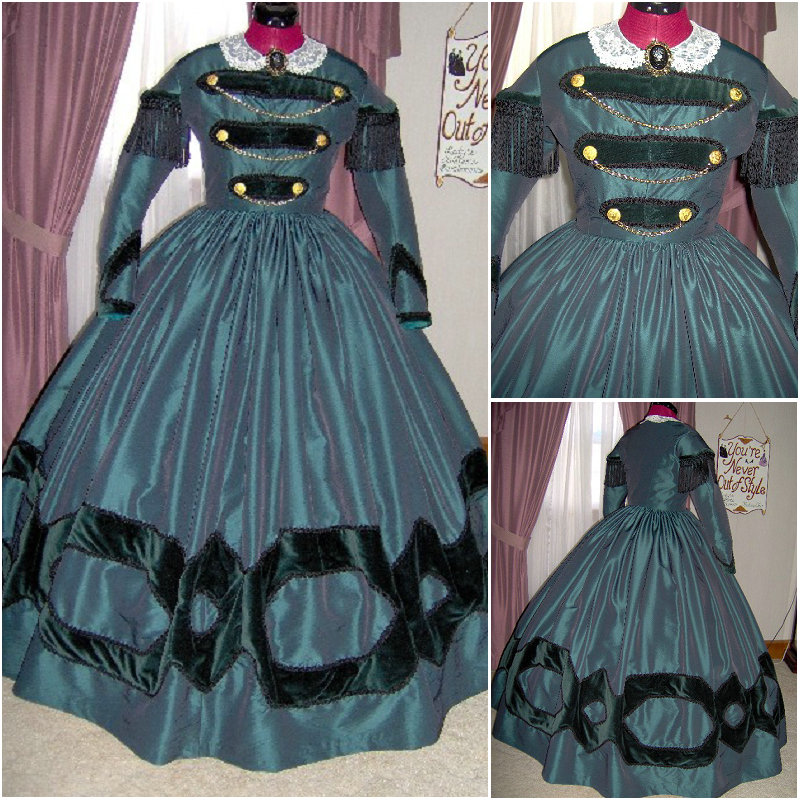 En vente R-124 victorien gothique/guerre civile sud Belle robe de bal robe Halloween robes