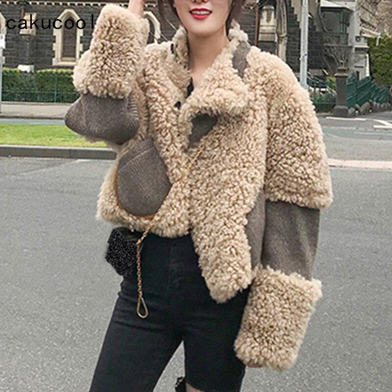 Abrigos de piel de cordero de imitación para mujer Chaquetas de piel de invierno-in chaquetas básicas from Ropa de mujer    1