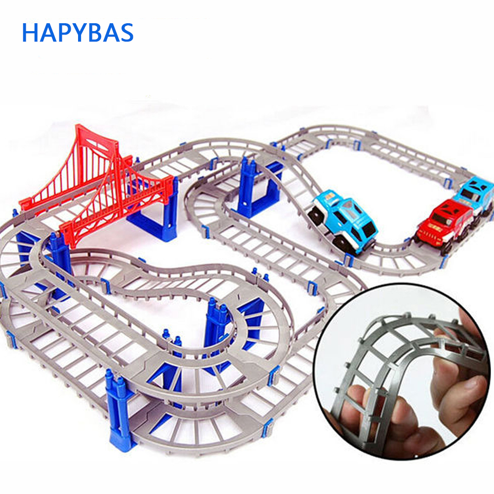 New Hot Sell 3D kids toys festive gifts Two-layer Spiral Track Roller Coaster Toy Electric Rail Car for Child Gift
