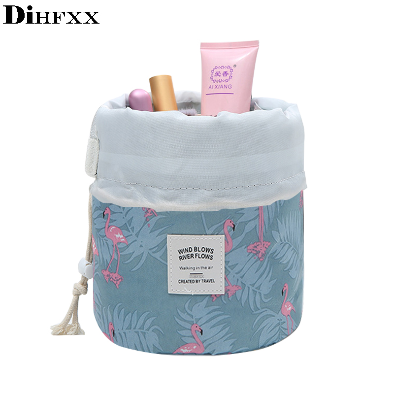 DIHFXX Women Lazy Drawstring Cosmetic Bag Fashion Travel Makeup Bag Organizer Make Up Case Storage Pouch Toiletry Beauty Kit