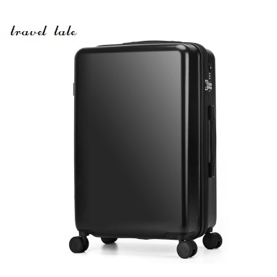 Pure color fashion high quality 20/24 inches ABS+PC Rolling Luggage Spinner Travel Suitcase Unisex
