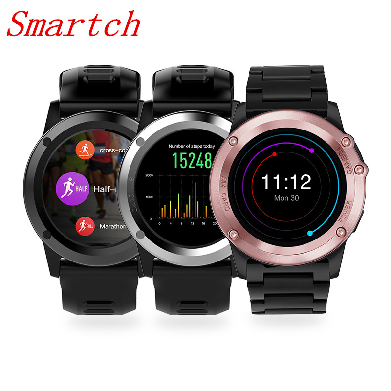 Smartch H1 Smart Watch Android 5.1 OS Smartwatch 512MB 4GB ROM GPS SIM 3G Heart Rate Monitor Camera Waterproof Sports Wristwatch цена и фото