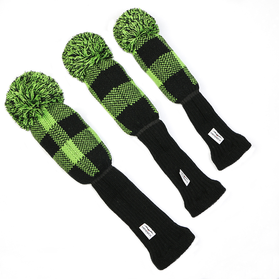 Image 2 - Golf Clubs headcovers Knitting wool Clubs covers  Golf Accessories 1set  free shipping-in Golf Clubs from Sports & Entertainment