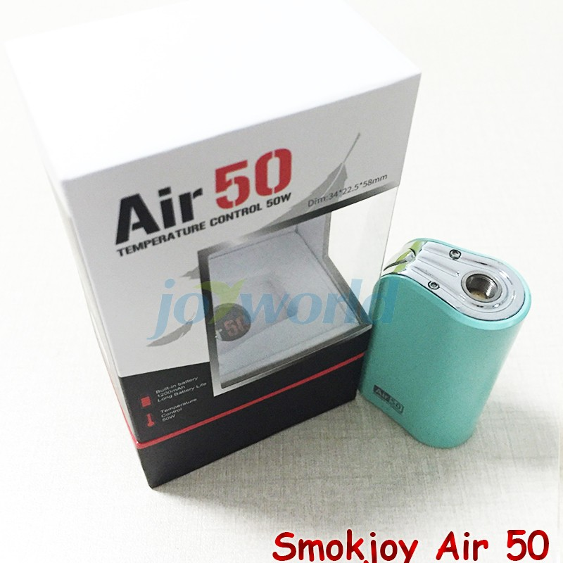 100%Electronic Cigarette Smokjoy Air 50W TC  VW Box Mod 1200mAh Build In Battery 7-50w Tiny Size SmokJoy air 50 VS evod mega YY (10)