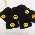 Новый Дизайн Симпатичный Печати Emoji Вязаные Шерстяные Шляпы Для Ребенка Дети Дети Осень Зима Теплая Корейский Caps Beanies
