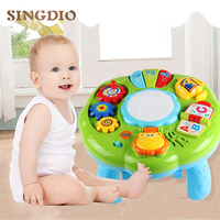 SINGIO Music Table Baby Toys Learning Machine Educational Toy Music Learning Table Toy Musical Instrument for Toddler 6 months+