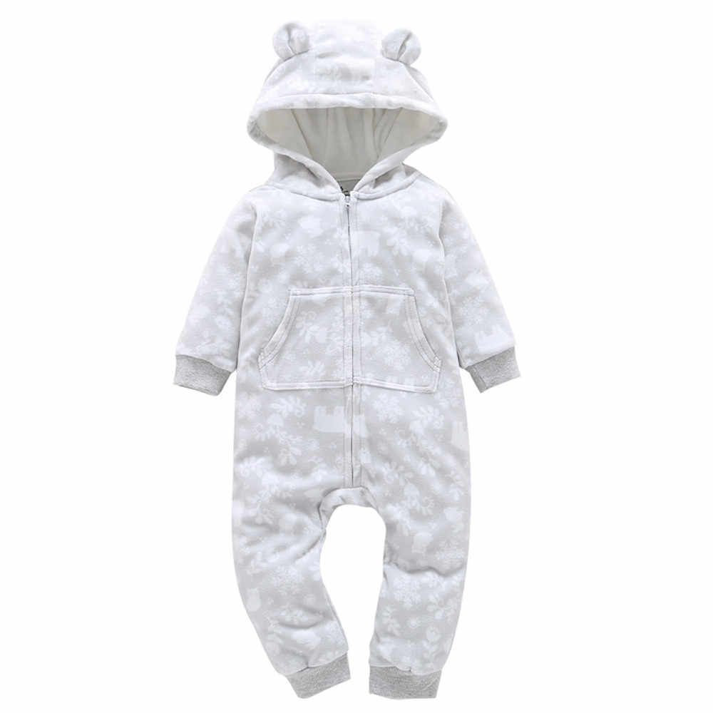 3fbde5bbbc Baby Rompers Winter Baby Boy girls Clothes bear ears Newborn toddler Clothes  Infant Jumpsuits new born
