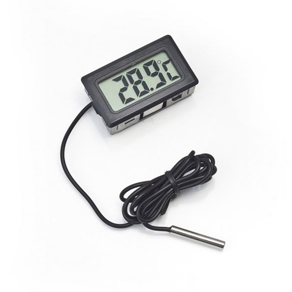 Car Thermometer Mini Digital LCD Display Car Interior Temperature Meter Tools Thermometer Temperature Sensor -50 to 110