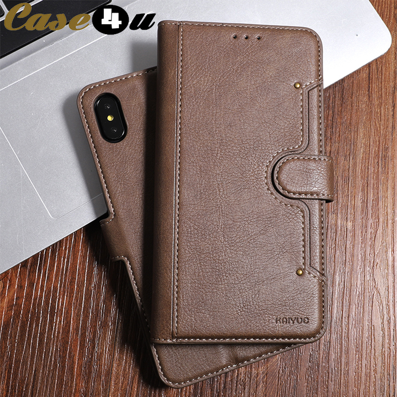 Slim PU Leather Wallet Stand Flip Phone Cases for iPhone 10 8 7 6 6s Plus XS MAX XR 8Plus 7Plus Card Slot Holder Magnetic Cover(China)