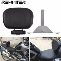 Motorcycle Black Adjustable Driver Rider Seat Backrest Kit Leather For BMW R1200GS ADV R1200GS LC 2013 2016 2017