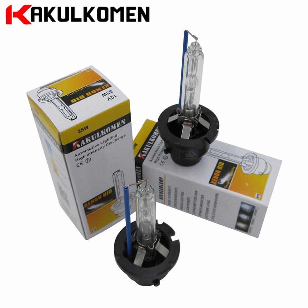 2pcs Car Headlights Xenon D2S D2R D1S D3S D4S D4R HID Bulb Lamp Light 4300K 5500K 6000K 35W 12V 2 pieces xenon bulbs car lamp d4r 4300k 42406wx 6000k 12v 35w