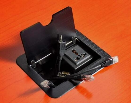 Universal Power Conference Table Connectivity Box EU AC Power Outlet - Conference table power box