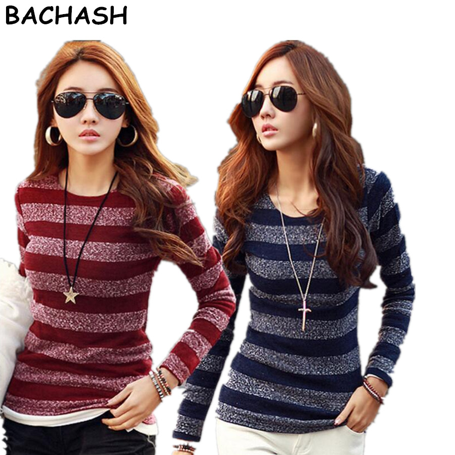 BACHASH New 2018 High Quality Fashion Spring Autumn Winter Sweater Women Wool Pullovers Long Sleeve Fashion Women Clothing Red