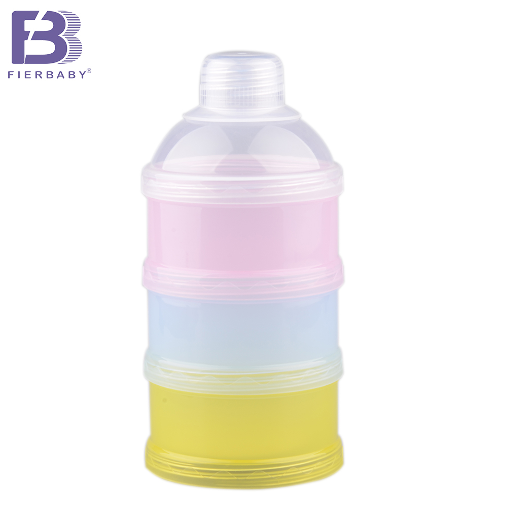 Fierbaby new food container portable Three layers Milk box clean and Convenience Powdered milk storage box