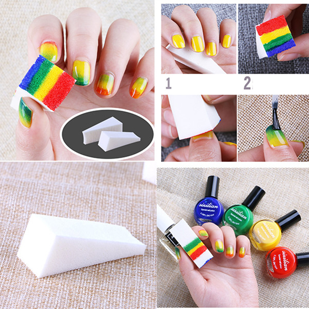 Soft Stamp Sponge Triangle Nail Art Polish Gel Gradient